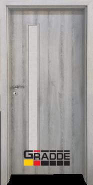 Интериорна HDF врата, модел Gradde Wartburg, Ясен Вералинга