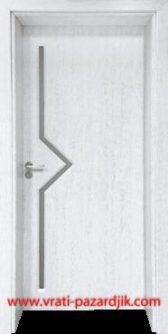 Стъклена интериорна врата Гама 201, цвят Бреза
