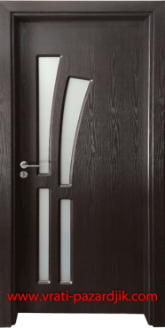 Стъклена интериорна врата Гама 205, цвят Венге