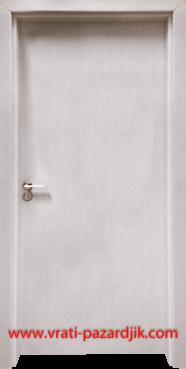 Стъклена интериорна врата Гама 210, цвят Перла