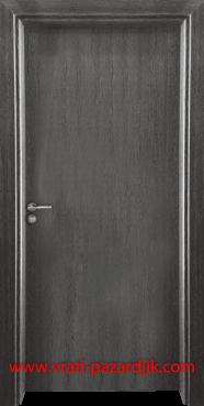 Стъклена интериорна врата Гама 210, цвят Сив Кестен