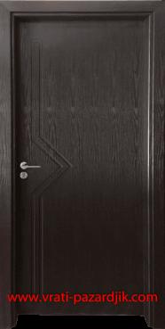 Интериорна врата Гама 201p, цвят Венге